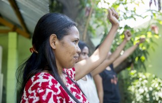 Women of Asisténsia Legál ba Feto no Labarik (ALFeLa), an IWDA partner in Timor-Leste. Photo: Anna Carlile