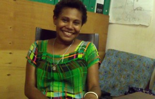 Christha Saghao, Finance Officer at Wide Bay Conservation Association. Photo: Suzanne Fletcher
