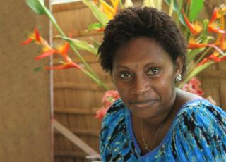 Isabel Koredong of Bougainville Women's Federation. Photo: Richard Eves