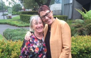 IWDA CEO Joanna Hayter with IWDA Founder and fellow Victorian Honour Roll Inductee (2011) Wendy Poussard Photo: Lauren Coutts