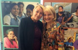IWDA CEO Jo Hayter and Australian Ambassador for Women Dr J Sharman Stone