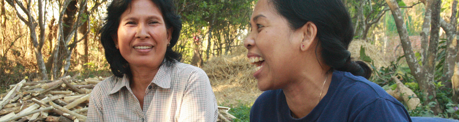Women having a discussion in Cambodia